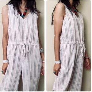 Drew Antropologie Cole Jumpsuit in Taupe Pink